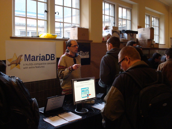 MariaDB/PBXT booth at FOSDEM